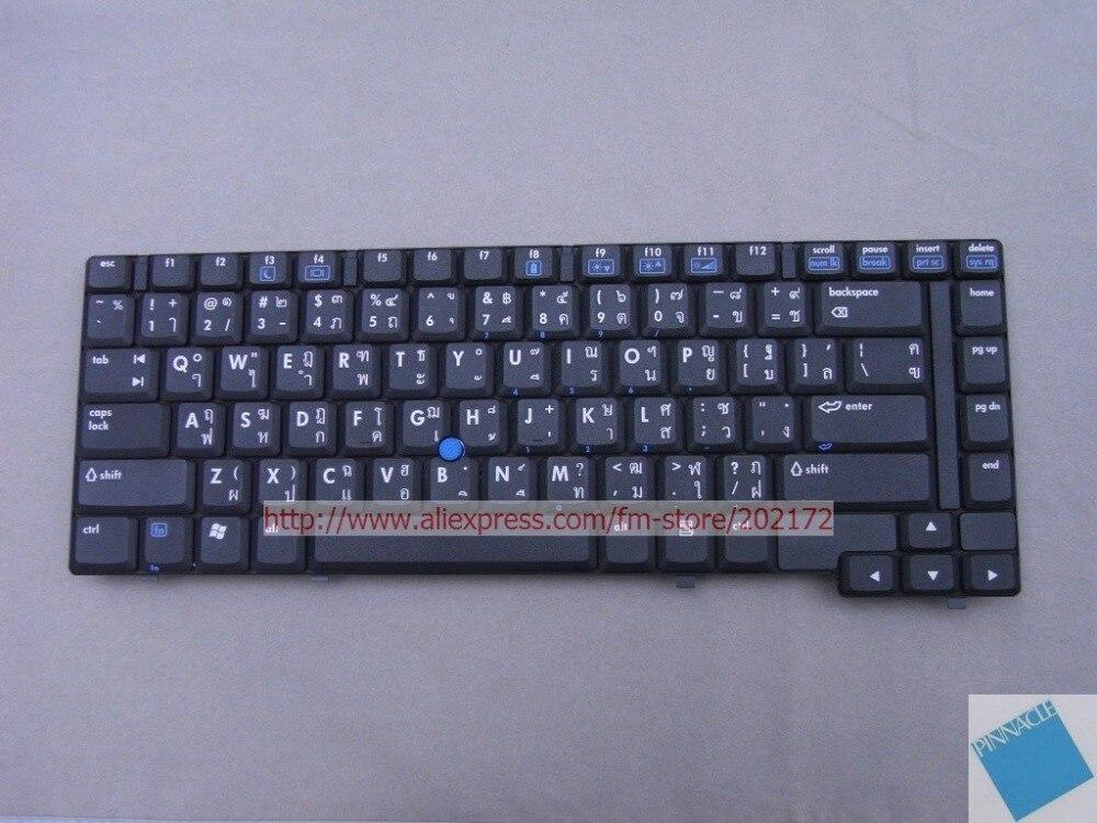 где купить Brand New Notebook Keyboard 418910-281  PK130060800  For  HP Compaq NC6400   Thailand 100%  compatiable us Black по лучшей цене