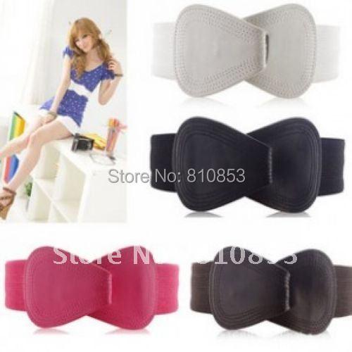Free shipping Women Waistband Elastic Belt Waist Multicolor Fashion  women's Cute  Buckle Style Wholesale