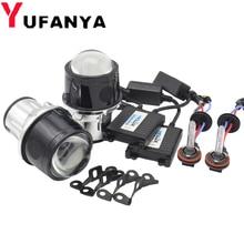 2.5 inch Fog Light Bi Xenon Projector Lens 35W Xenon Kit For Toyota/Ford/Universal/Nissan Full Metal Auto H11 bulbs hid retrofit