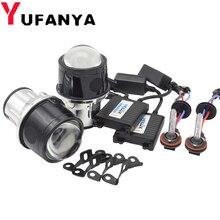 2.5 polegada luz de nevoeiro bi xenon lente do projetor 35 w xenon kit para toyota/ford/universal/nissan metal cheio auto h11 lâmpadas hid retrofit