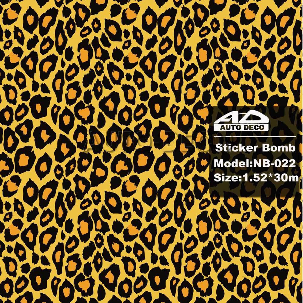 Sticker bomb car design - High Clear Car Sticker Bomb Sheet Leopard Vinyl Wrap With Air Bubble Free Fedex Free Shipping