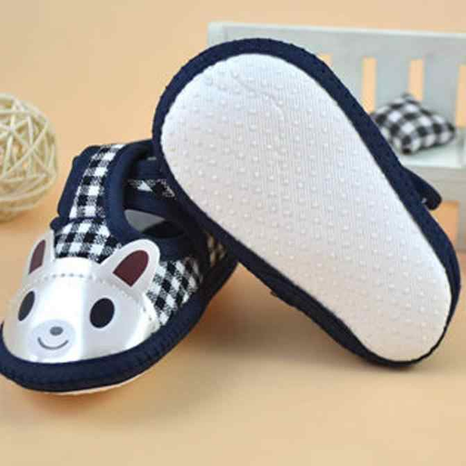Recién Nacido niña Niño de suela suave cuna Zapatos Zapatillas de lona F5