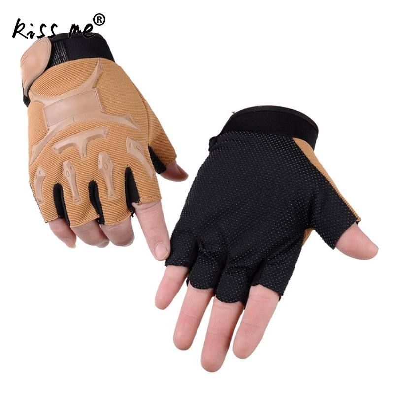Men Anti Skidding Cycling Gloves Sport Gloves Solid Outdoor Sports Nature Hike Half Finger Protective Gears Motor Ridding Gloves