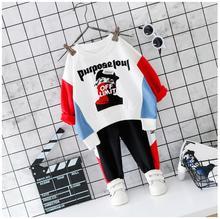 купить 2019 Autumn Toddler Girls Boys Clothes Sets Baby Infant Clothing Suits Cartoon T Shirt Pants Child Newborn Casual Costume по цене 655.22 рублей
