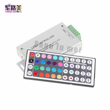 Gratis Pengiriman DC12-24V 24A 288 W 44key IR Remote RGB LED Controller Dimmer untuk LED Strip Lampu LED Module Tape(China)