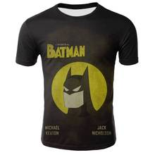 Batman -Superhero-Superman T shirts Summer Round Neck 3D Printed T shirt