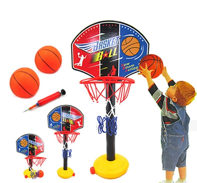 Kids Outdoor Sports Portable Basketball Hoop Toy Set