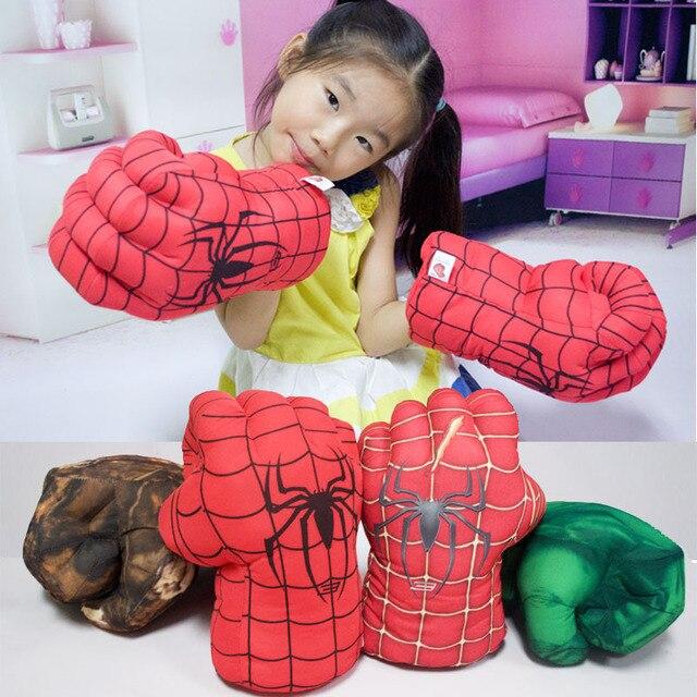 1 pcs Divertidas Luvas Superhero Hulk Hulk Spiderman Crianças Halloween Natal Traje Dos Miúdos Brinquedos UMA única luva