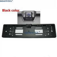 Draad draadloze CCD LEDS HD Kleur EU Europese Auto Licentie achteruitrijcamera Plaat Frame parking camera nachtzicht waterdichte