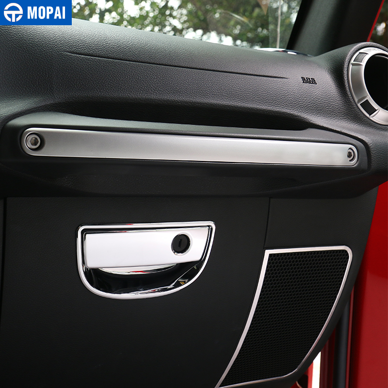 Image 4 - MOPAI Car Dashboard Steering Wheel Speaker Air Vent Interior Decoration Cover Kit for Jeep Wrangler JK 2007 2010 Car Accessories-in Automotive Interior Stickers from Automobiles & Motorcycles