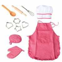 11 Pcs Chef Rolle Spielen Set Mit Kleid Up Kostüm Und Küche Zubehör Kinder Pretend Spielen Spielzeug Set Cookies Spielzeug y30