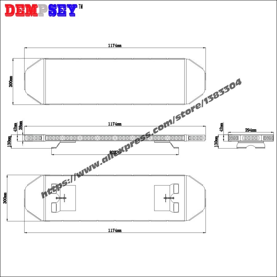 TBD-11L22 Hochwertiger bernsteinfarbener LED-Lichtbalken, - Schutz und Sicherheit - Foto 4