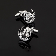 XK117 High quality fashion men's business Cufflinks animal horse Cufflinks men's shirt clothing accessories
