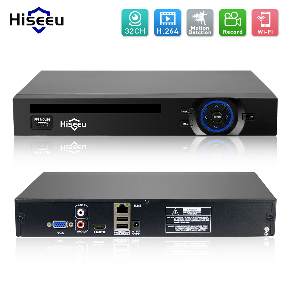 2HDD 25CH 5MP 32CH 1080P 8CH 4K CCTV H.264/H.265 NVR DVR Network Video Recorder Onvif 2.0 for IP Camera 2 SATA XMEYE P2P Cloud