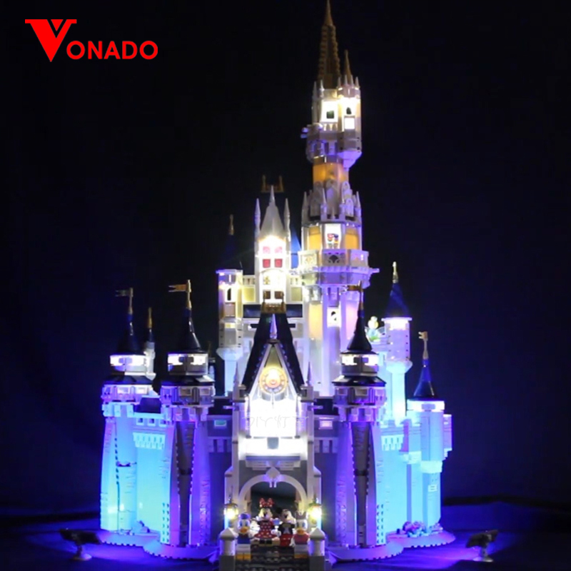Luz Led para Lego 71040 creativa de la ciudad de Castillo de princesa de Cenicienta Compatible 16008 bloques de construcción de juguetes (luz)