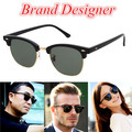 2017 Vintage Metal 3016 Club Half Frame Sunglasses Men Women Fashion Classic UV400 Mirror Brand Designer Round Sun Glasses