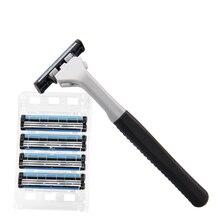 Barbeador Manual de três importações de lâmina de aço inoxidável