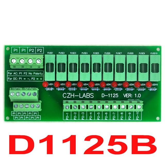 10 Posición de Montaje En Panel de Distribución de Energía Fusible Placa Del Módulo, para AC230V.