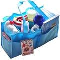 TEXU Portable Baby Diaper Storage bag Insert Organizer Bag Tote, Blue