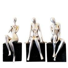 American Creative abstract beauty figurine Nordic Modern resin room decoration vintage home decor  fairy garden miniatures
