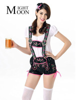 MOONIGHT Hot German Beer Costume Women Costume Adult Oktoberfest Costume