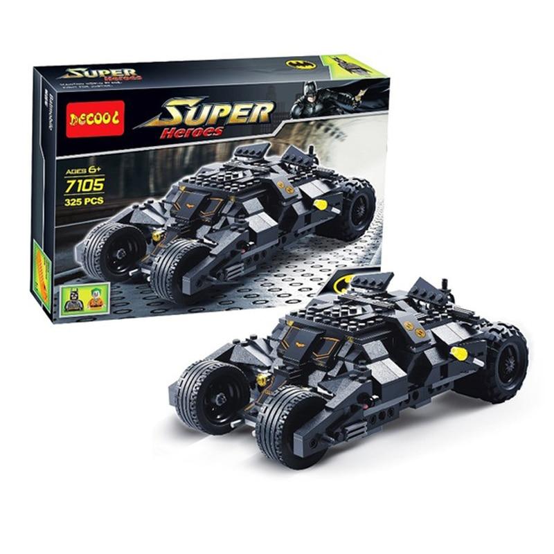 7105 Batman The Tumbler Bat Mobile Batwing Joker Super Heroes Building Block Bricks Set Compatible with Legoe стоимость