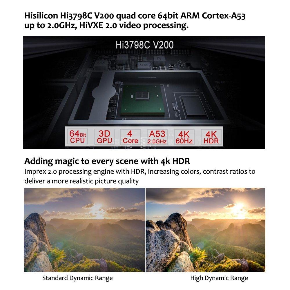Reproductor multimedia Egreat A5 4K UHD con reproductor de disco duro HDR Blu-ray menú de navegación de reproducción ISO Android 5,1 TV caja de subcomité DOLBY BD-ISO - 4