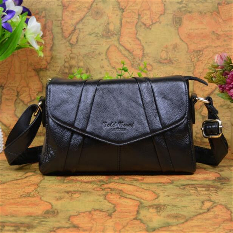 100% Genuine Leather Bag Casual Cow Leather Women Handbags Women Messenger Shoulder Bags Bolsas Feminina High Quality Phone Bag цена 2017