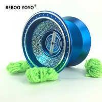 2017 novo de metal yoyo yoyo profissional conjunto yo yo + luva 3 cordas l1 yo-yo alta qualidade clássico brinquedos diabolo presente