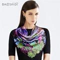 [BAOSHIDI]16m/m Women hijab scarf,Large Square Scarves, scarfs luxury brand, Original design Shawl, hand rolled, manual printing