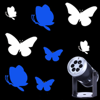 Vocie control LED Projector Lamps Butterfly Bar Stage Lighting DJ Lumiere Disco Ball effect Lamp Christmas KTV Music Party Light