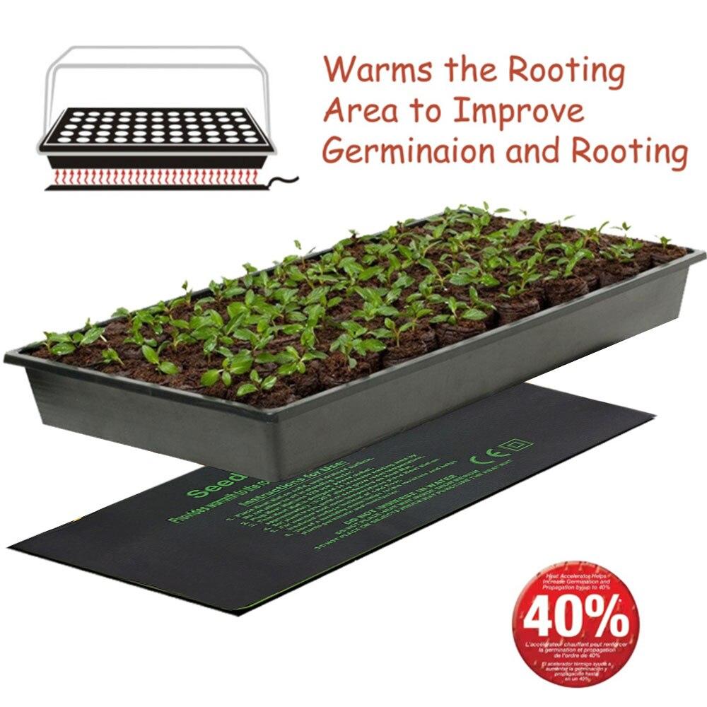 24*52 см 52*52 см 121*52 см нагревательный коврик для растений, электрическое одеяло с цветком рассады, водонепроницаемая теплая прочная гидропонн...