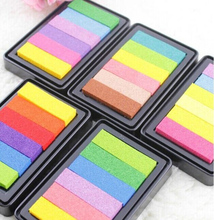 Sweet candy Arco Iris Color Colorful Gradient Inkpad Stamp Decoration Digital DIY Scrapbooking Printing Accessories homemade diy gradient color ink pad multicolour inkpad stamp decoration fingerprint scrapbooking accessories
