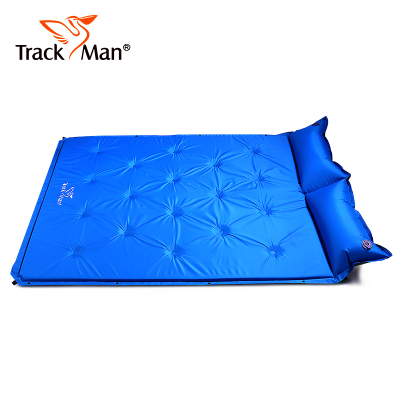 Trackman double camping mat Automatic inflatable Mattress With Pillow large size Sleeping Pad Beach hiking travel mats inflatable mattress beach mat automatic air mattress camping mat air bed with pillow sleeping pad 193 65