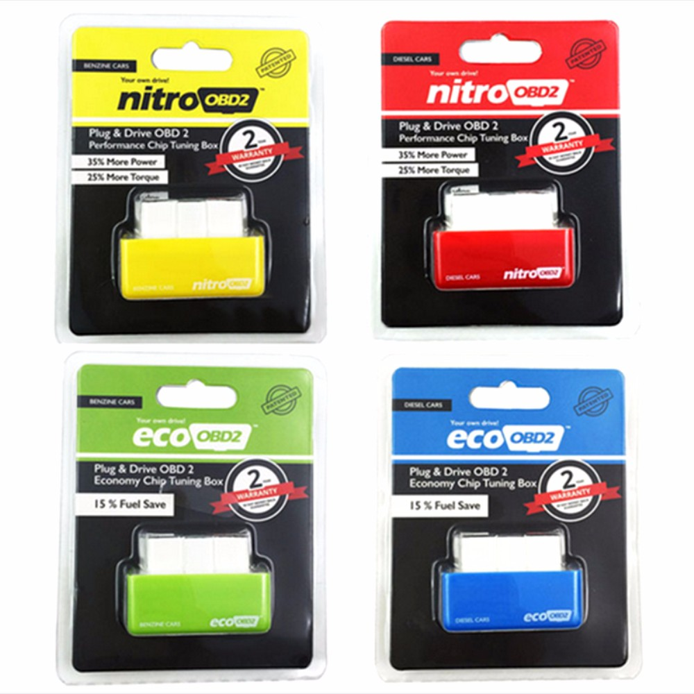 Nitro OBD2 Ecu-Chip-Tuning-Box-Plug Fuel-Save More-Power Cars for 15-% 4-Colors title=