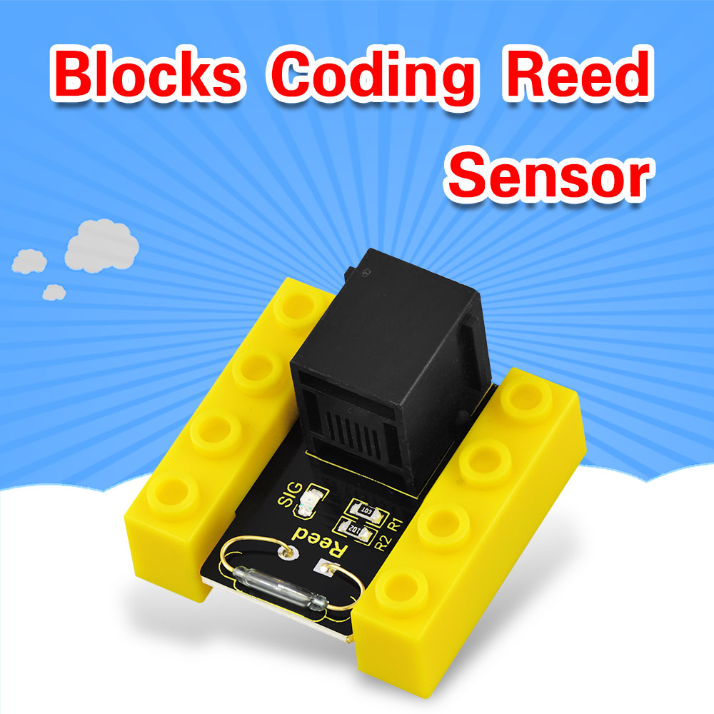 Kidsbits Blocks Coding Vibration Sensor Module For Arduino STEAM EDU (Black And Eco Friendly)