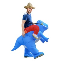 Ride Inflatable Dinosaur Costume T Rex Fancy Dress Adult Kids Halloween Costume Party Outfit Animal Themed
