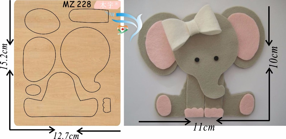 Pink elephant  new wooden mould cutting dies for scrapbooking Thickness-15.8mmPink elephant  new wooden mould cutting dies for scrapbooking Thickness-15.8mm