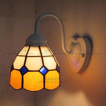 Европейский Средиземноморский Тиффани Ретро настенный светильник прихожая уютная креативная лампа бар коридор