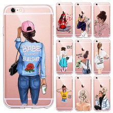 VOGUE Christmas Princess Girl Female boss coffee Soft Silicone TPU phone Case For iPhone 11Pro MAX SE 5 6 6s 7 8 Plus X XS XR XS