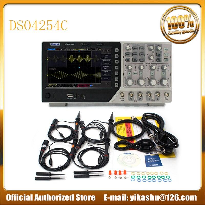 Hantek Official DSO4254C Digital Oscilloscope 4 Channels 250Mhz LCD PC Portable USB Oscilloscopes EXT DVM Auto