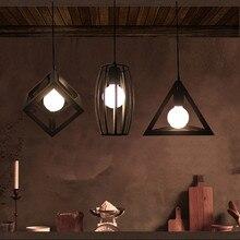 Comedor retro hierro negro araña de iluminación interior led lámpara industrial de la vendimia comedor cocina Bar luz led lamparas
