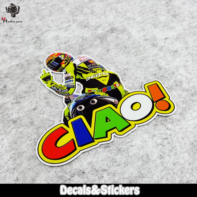 NO.LN136 46# Rossi CIAO! 3M Material Reflective Stickers MOTO GP Car Sticker Decals Racing Stickers Motorcycle