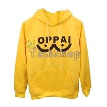 One Punch Man Saitama Oppai Yellow Hoodie
