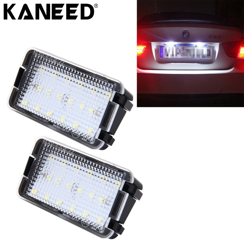 KANEED For SEAT Cordoba License Plate Light 18 SMD-3528 LED Car Number Card LED Lamps License Light For Seat Ibiza Leon Toledo canbus 18 led license plate light car number plate lamp for seat altea arosa ibiza 97 08 cordoba 93 08 leon 99 05 toledo iii