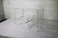 Free Shipping 1 Piece 320 560 440mm Acrylic Mid Century Modern Clear Lucite Geometric Spiral
