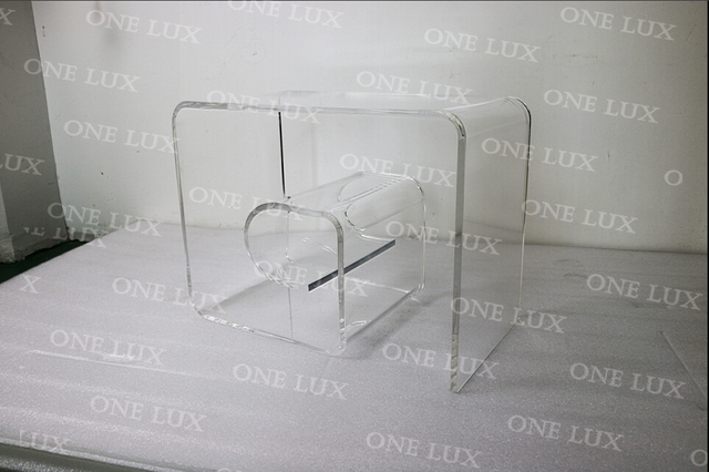 One Lux Acrylic Mid Century Modern Clear Geometric Spiral Coffee
