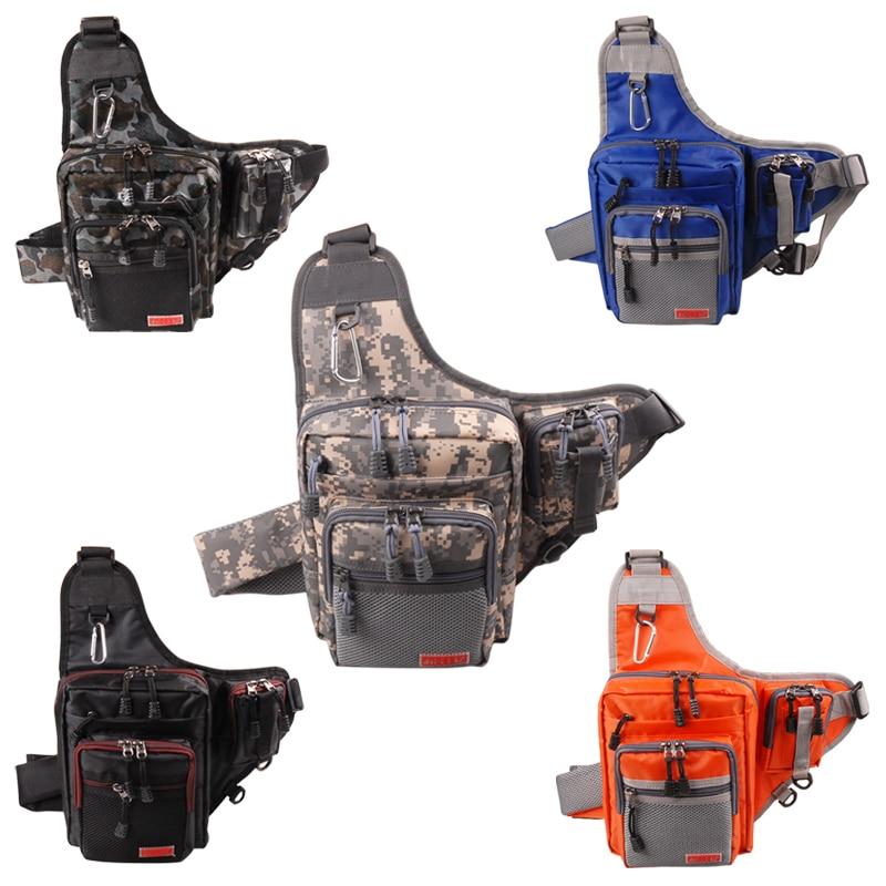 5Colors 23*18*8CM NOEBY Multifunction Waterproof Shoulder Fishing Bag Bolsa De Pesca Canvas <font><b>Carp</b></font> Fishing Reel Lure Tackle Bag