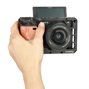 Image 5 - SmallRig a6400 Camera Cage Wooden Handgrip for Sony A6400 Cage Quick Release Wooden Handle Grip  APS2318