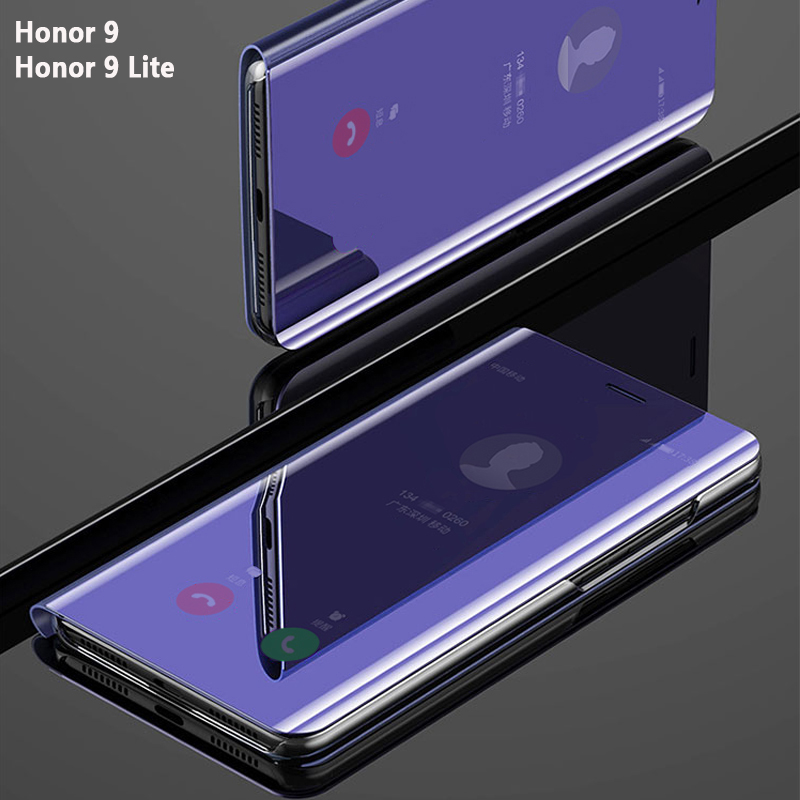 Flip Smart Mirror Phone Cover,case,For HuaWei <font><b>Honor</b></font> <font><b>9</b></font> <font><b>Lite</b></font> 9Lite Honor9 Leather Clear View Standing Rose <font><b>Gold</b></font> Back Cases image